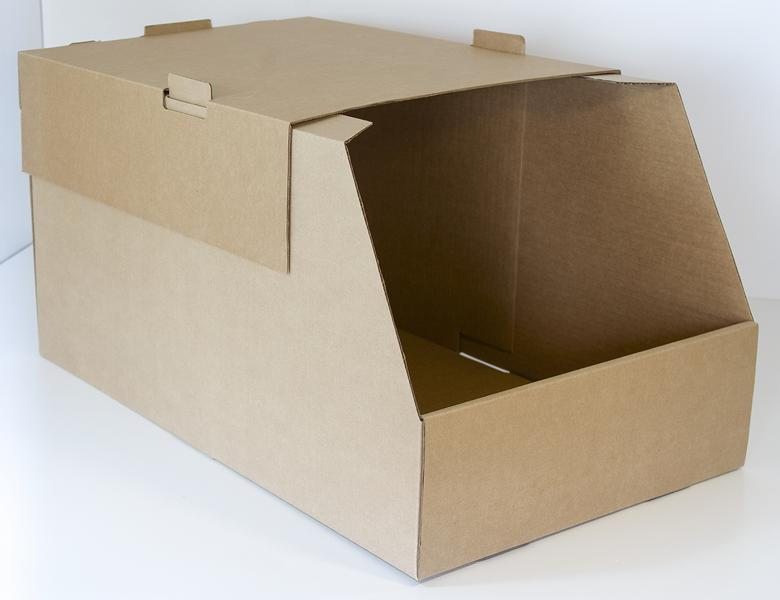 contenedores apilable tapa cajas almacen